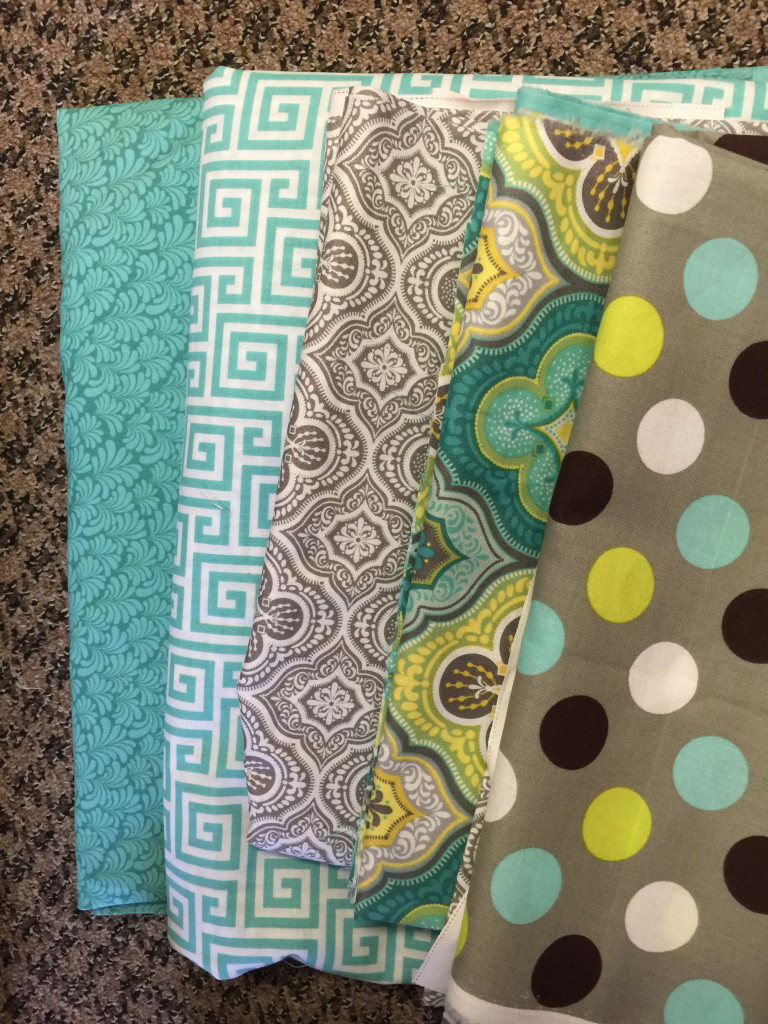 Hoopsisters  2015 Mystery Quilt fabric selection
