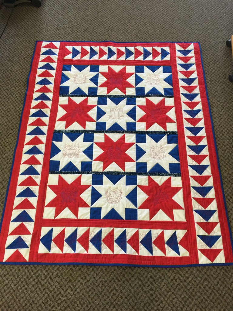 Dad's Quilt of Valor front